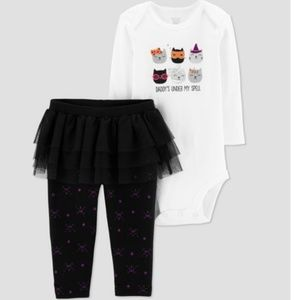 Baby Girls 2 Pc Halloween Outfit Daddy's Under My
